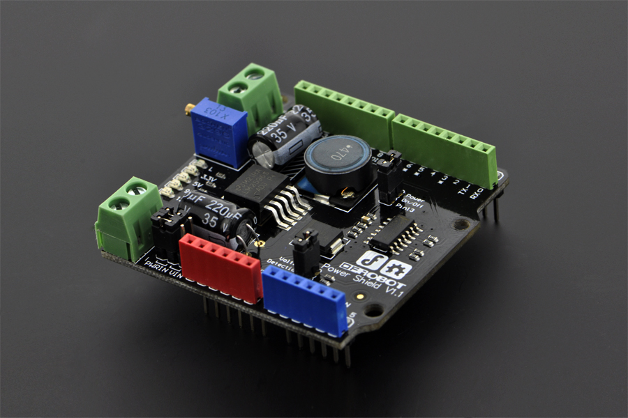 DFROBOT Power Shield (Arduino Compatible) [DFR0105] ( 아두이노 파워 쉴드 )